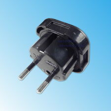 Adattatore da Viaggio Presa Inglese a Spina Italiana Travel Adapter Europe Nero