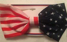 Flag Hair Bow Barrette Hair Clip Red White Blue Stars and Stripes