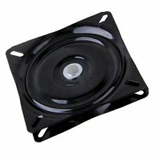 7 inch A3 Steel Plate Black Ball Bearing Square Swivel Turntable Chair Swivel