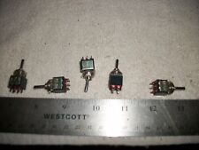 LOT OF MINI ON/OFF/ON 2PDT TOGGLE SWITCHES S