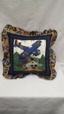 "Antique Airplane  16"" Throw Pillow"