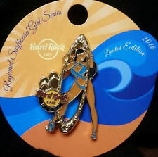 Hard Rock Cafe MIAMI FL 2016 Sexy SURFBOARD Girl Series PIN LE 400 New on Card!