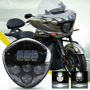 Black LED Motorcycle Headlight for Victory Cross Country Kingpin Vegas Hammer