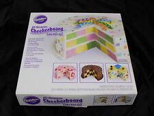 Wilton Checkerboard Cake Pan Set All Occasion Never Used Original Box Birthday