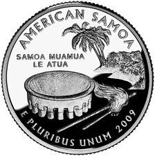 2009 S SILVER GEM PROOF AMERICAN SAMOA TERRITORY QUARTER 90% SILVER