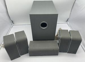 Denon DSW-56 Subwoofer Sub + SC-C56/SC-A56 Home Cinema Surround Sound Speakers