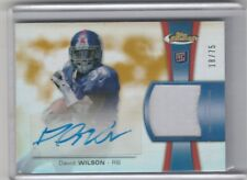 DAVID WILSON RC GOLD REFRACTOR JERSEY AUTO #/75 2012 TOPPS FINEST NY GIANTS