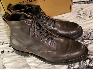 TRUMAN Boot Vintage BLACK Waxed Stitchdown 12 D Made In PA DAINITE SOLE NOS