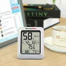 Temperature and Humidity Monitor Meter Weather Station Indoor Gauge Hygrometer