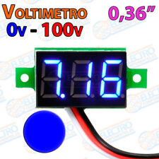 Mini Voltimetro 100v AZUL DC display 0,36 3 hilos digital voltmeter led