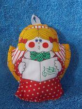 Vintage Cloth Angel Caroler Christmas Ornament