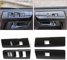 Carbon Fiber Window Lift Switch Decoration Trim for Toyota 4runner SUV 2010-2019