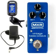 Mxr Vintage Bass Octave Mini Bass Guitar Effect Pedal M280 & Adapter ( Tuner )