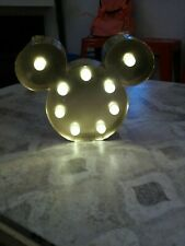 Mickey mouse gold light. 5x4in with wall hooks