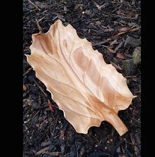 Carved Teak Root 50cm Leaf,Long Serving Tray Platter,Home Decor,Rustic Cottage