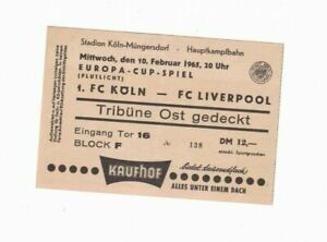 1964/65 EUROPEAN CUP FC Köln v Liverpool (1st Leg)