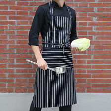 Women Men Black and White Kitchen Aprons Butchers Catering Cooking Chef Aprons