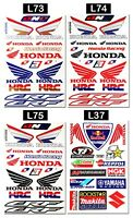 Honda Wings Stickers Motorcycle Dirt Bike Truck Tank HRC Motocross Decals Sheets