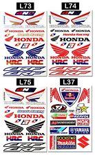 Honda Wings Stickers Motorcycle Dirt Bike Truck Tank HRC Motocross Decals Sheets