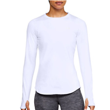 Under Armour ColdGear Womens Long Sleeve Running Top White Workout Size XL