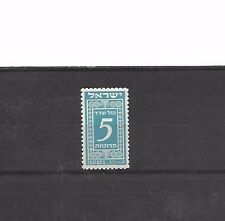 ISRAEL STAMPS 1948 REVENUES CONSULAR SERVICE 5 PR. BLUE GREEN M.N.H
