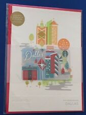 NEW 2016 DALLAS Limited Christmas Holiday Starbucks Greeting Gift Card w/$0 bal