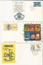 Gibraltar: 10 different first day cover, 2 with S.S. Some high values... GI18