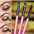 3tlg Farbe Profi Abgewinkelt Augenbraue Bürste Augenbrauen Liner Makeup Werkzeug