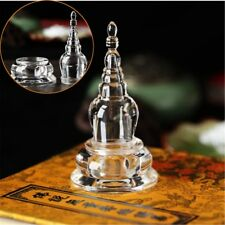11cm/4.3'' Acrylique Clair bouddhiste Mikky Crystal Stupa Tour Bouddha Tibet Tibétain