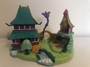 Vintage Bluebird Toys Disney Polly Pocket mulan Castle 90s Toy play Set
