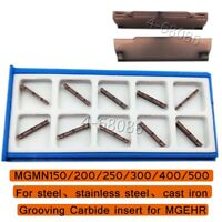 MGMN150-G 1.5mm width MGMN Grooving Carbide Insert for MGEHR MGIVR Cut-off Tool