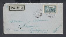 FRENCH MOROCCO 1930 AIRMAIL COVER OUED ZEM TO BAR LE DUC FRANCE VIA CASABLANCA