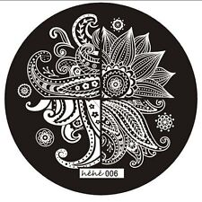 Nail art Stamping plate. Hehe 006. Original plate. Stamping manicure gift.