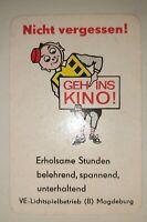 DDR Taschenkalender 1969 VE Lichtspielbetrieb Magdeburg Progress Film DEFA Kino