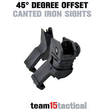 Front and Rear Iron Sight Set 45 Degree Canted, Top Quality Aluminum, US Seller