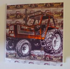 Fiat 90 - 90 vintage, tractor greetings, Birthday, Celebration card