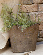 Rustic Metal Flower Basket Country Living Flower Garden Basket Flexible Handles