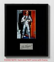 Alan Shepard Matted Autograph & Photo! Apollo 14 Moonwalker! Mercury 7 Astronaut