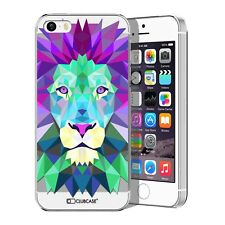 Coque Housse Etui Pour iPhone 5 / 5S / SE Polygon Animal Rigide Fin  Lion