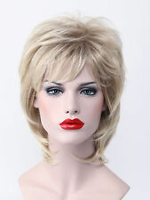 Charming Blonde Mix Women Short Fluffy Everyday Natural Daily Life Hair Full Wig