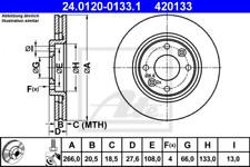 2x Bremsscheibe für Bremsanlage Vorderachse ATE 24.0120-0133.1