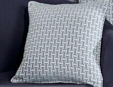 Filled Cushion Faux Wool Balmoral Silver 45cm x 45cm Geometric Pattern (472)