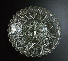 More details for vintage davidson clear glass plate, pressed depression glass