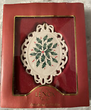 Lenox Holiday Cameo Christmas Ornament #816195 New in Box