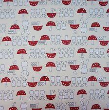 Ivory Spring Bunny 100% Poplin Cotton Fabric (Per Metre)
