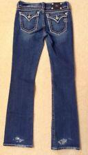 EUC! Women's Miss Me Destroyed Rhinestone/Stitched Boot Cut Jeans JP5014 Sz 29