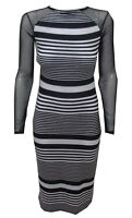 New Bodycon Womens Ladies Long Net Animal Print Celeb Maxi Midi Dress Size 8-14