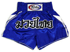 New Fairtex Muay Thai Mma K1 Boxing Shorts Blue Satin Bs0605 Victory