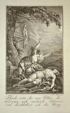 1791 Ovid Metamorphosen Pyramus und Thisbe Kupferstich von J. Stöber