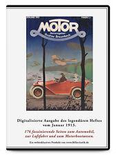 CD Benz und Cie. Benz-Gaggenau Daimler Marienfelde Argus MOTOR Januar 1913